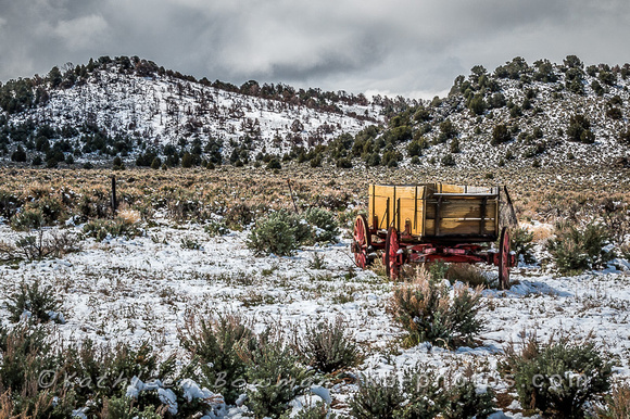 High Desert Wagon in Snow